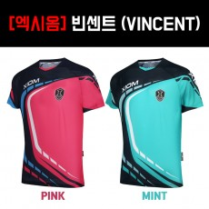 [엑시옴] 빈센트 (VINCENT) 핑크, 민트 - 탁구티셔츠, 기능성티셔츠